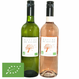 Nature de Roubié wijn duo wit/rosé