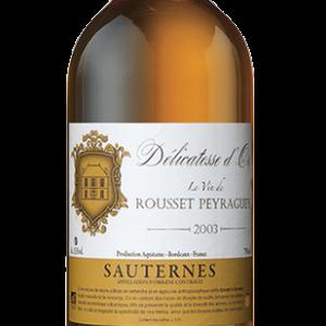 2003 Domaine de Rousset-Peyraguey Cuvée Paradosis Délicatesse D'Or Sauternes