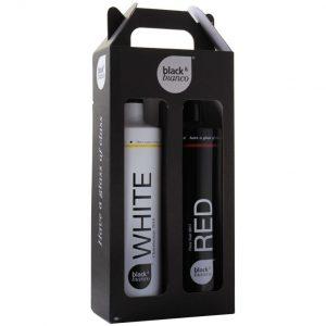 Black & Bianco giftbox Chardonnay - Pinot Noir