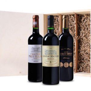 Wijnkist Bordeaux (3 flessen)