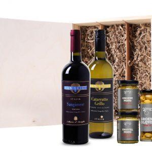 Wijnkist Italiaanse taferelen