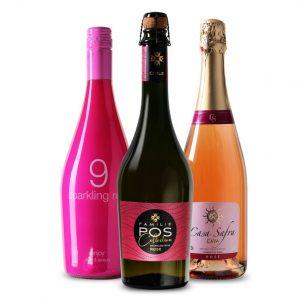 Wijnpakket Mousserend Rosé (3 flessen)