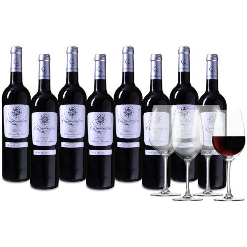 Wijnpakket Casa Safra Edicion Empireo 8 flessen + 4 glazen