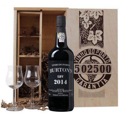Late Bottled Vintage Port 2014 + 2 portglazen