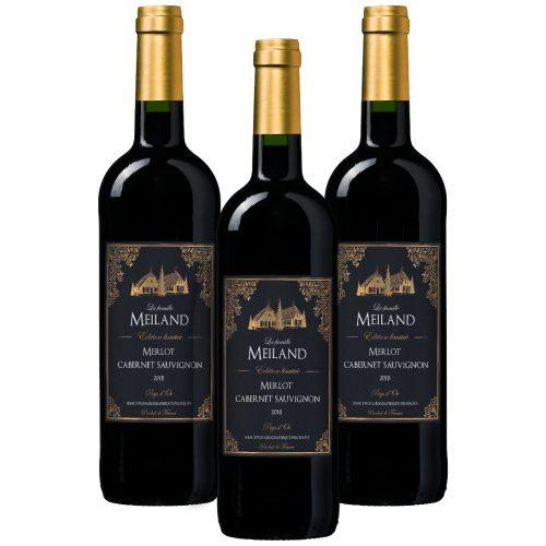 Wijnpakket La famille Meiland Édition limitée Merlot-Cabernet Sauvignon Pays d'Oc IGP (3 flessen)