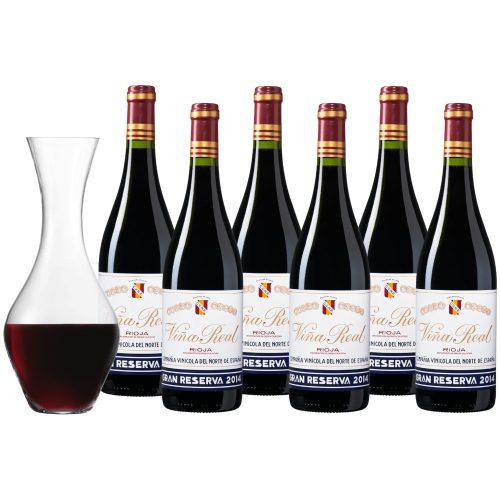 Wijnpakket Viña Real Rioja Gran Reserva - 6 flessen + karaf