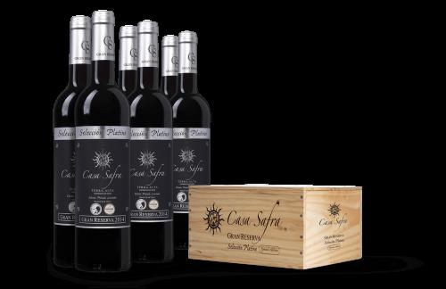 Casa Safra Selección Platino Terra Alta DO Gran Reserva in wijnkist