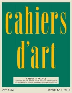 Cahiers d'Art N Degrees1, 2015