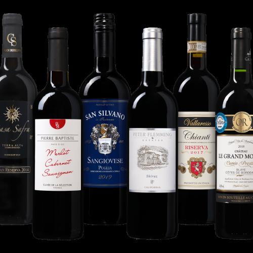 Drink-nooit-meer-slechte-wijn pakket Rood