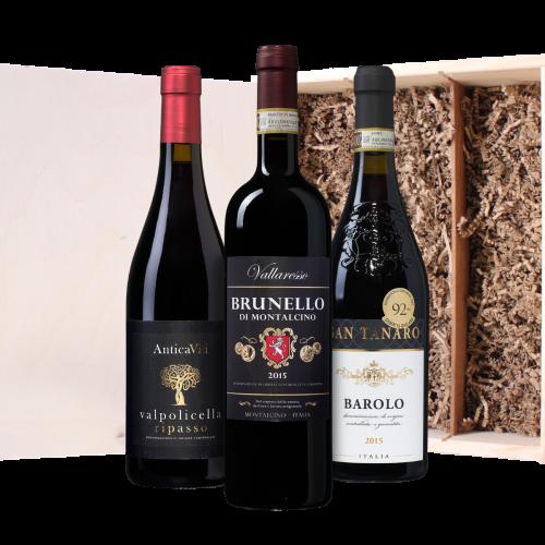 Wijnkist Italiaans rood (3 flessen)