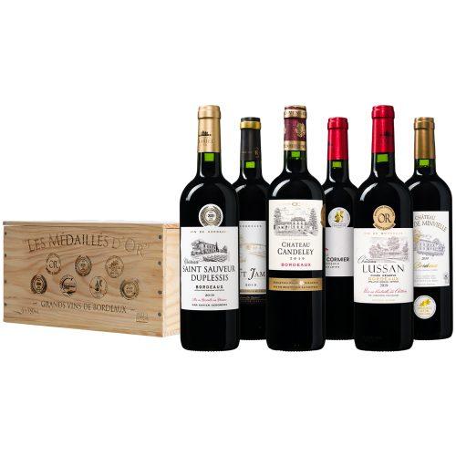 Les Medailles d'Or de Bordeaux Wijnkist Luxe