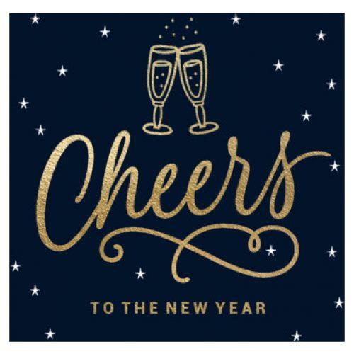 Luckz nieuwjaarskaart   Cheers Champagne