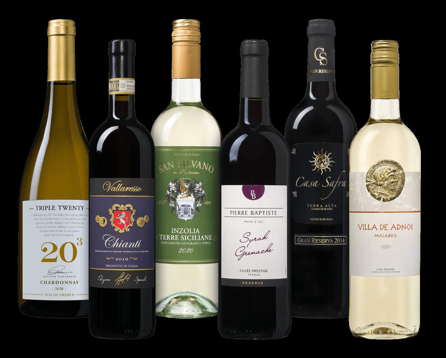Wijnpakket Oude Wereld