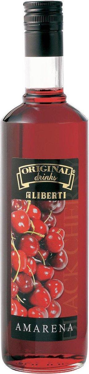 Aliberti Siroop Amarena - Zwarte Kers - Cocktail Siroop - 700ml