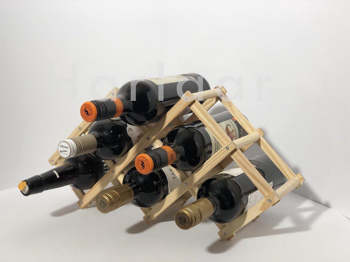 Bamboe Wijnrek - Bamboe Wijnhouder - Wijnrek - Wijnhouder - 6 Flessen - inklapbaar - Bamboe - Decoratie - Stijlvol - Ecologisch