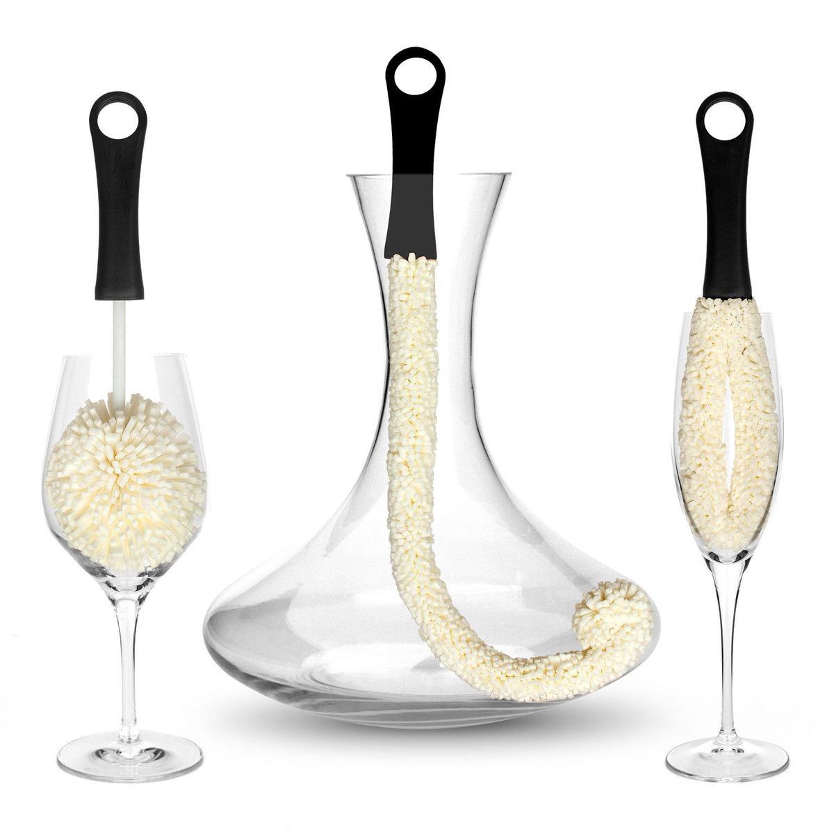 Bar Amigos - Decanter Cleaner / Reiniger - Karaf Borstel set van 3