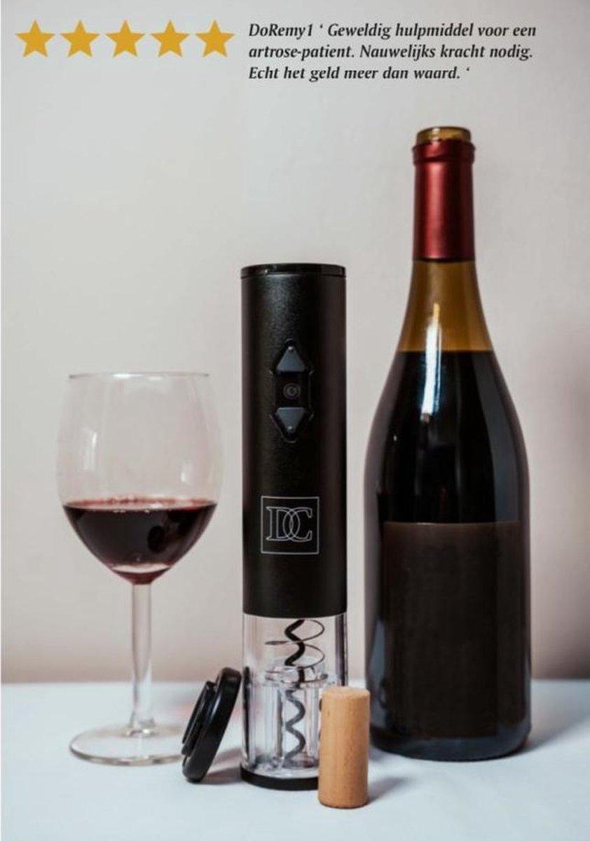 Elektrische kurkentrekker - wijnopener voor je wijnfles inclusief foliesnijder