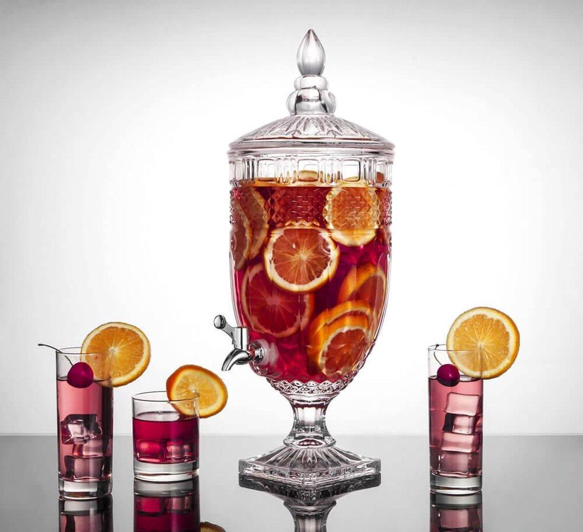 Fienzi Decanteer Karaf met Kraan - 5 liter - Glas
