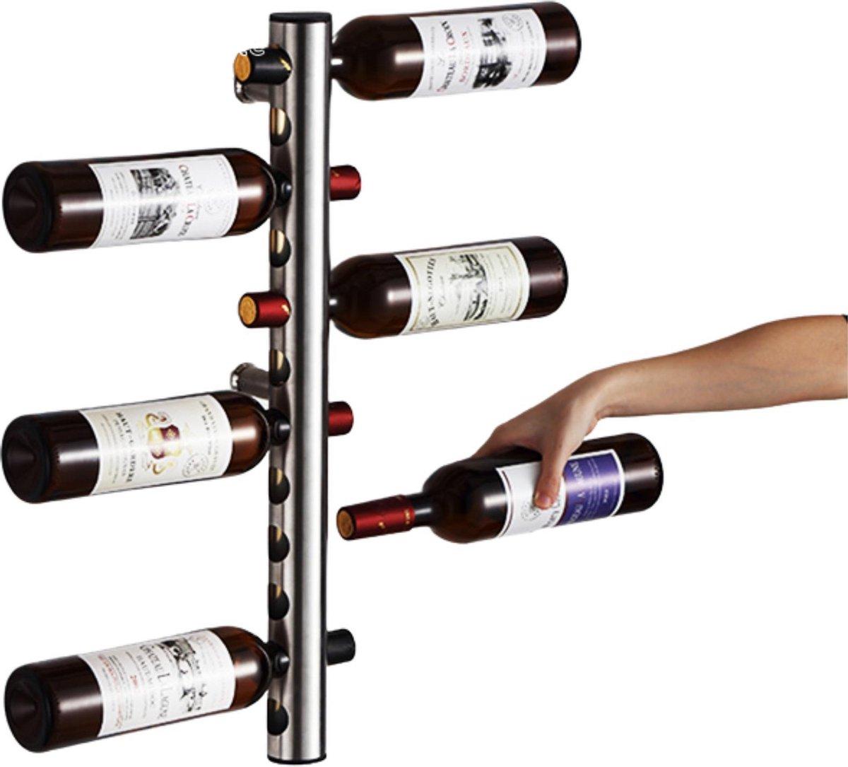Homeson wijnrek 12 gaten - Wijnhouder - Wijnflessen houder - Op hangen - 12 flessen/gaten