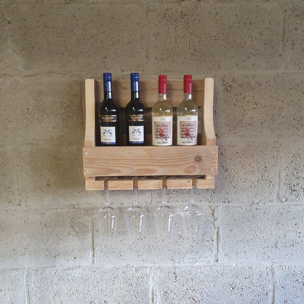 Houten wijnrek 45cm