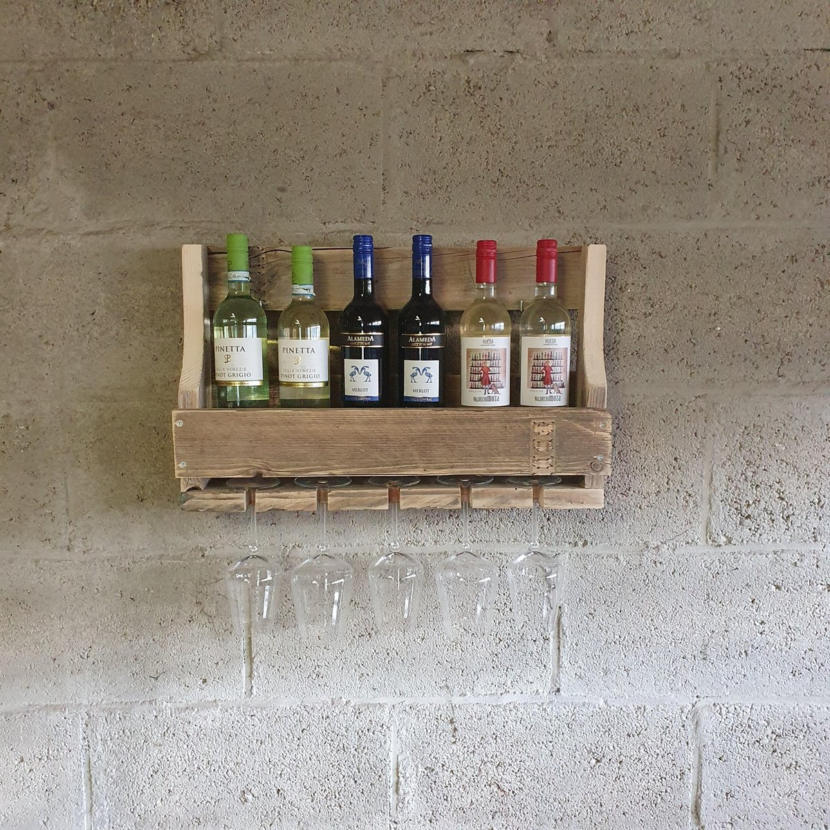 Houten wijnrek 60cm
