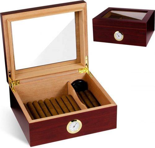 Humidor - Sigarendoos - Sigaren Bewaardoos - Klimaatkast voor Sigaren