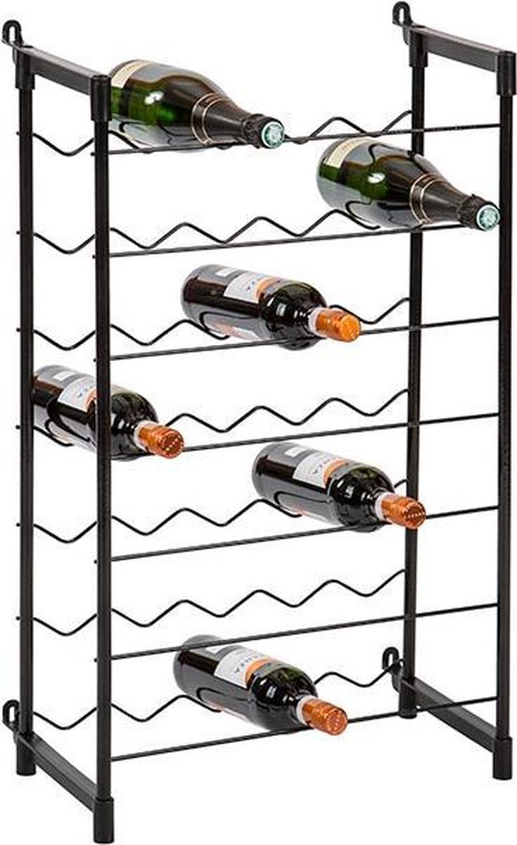 Metalen wijnrek voor 35 flessen