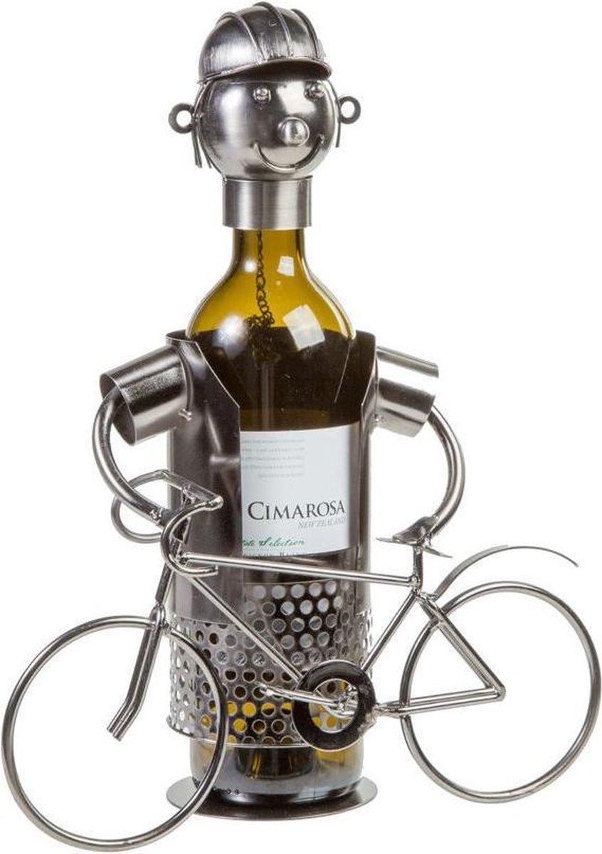 Out of the Blue Wijnrek - Metaal - Wijnstandaard - Wielrenner - 1 fles