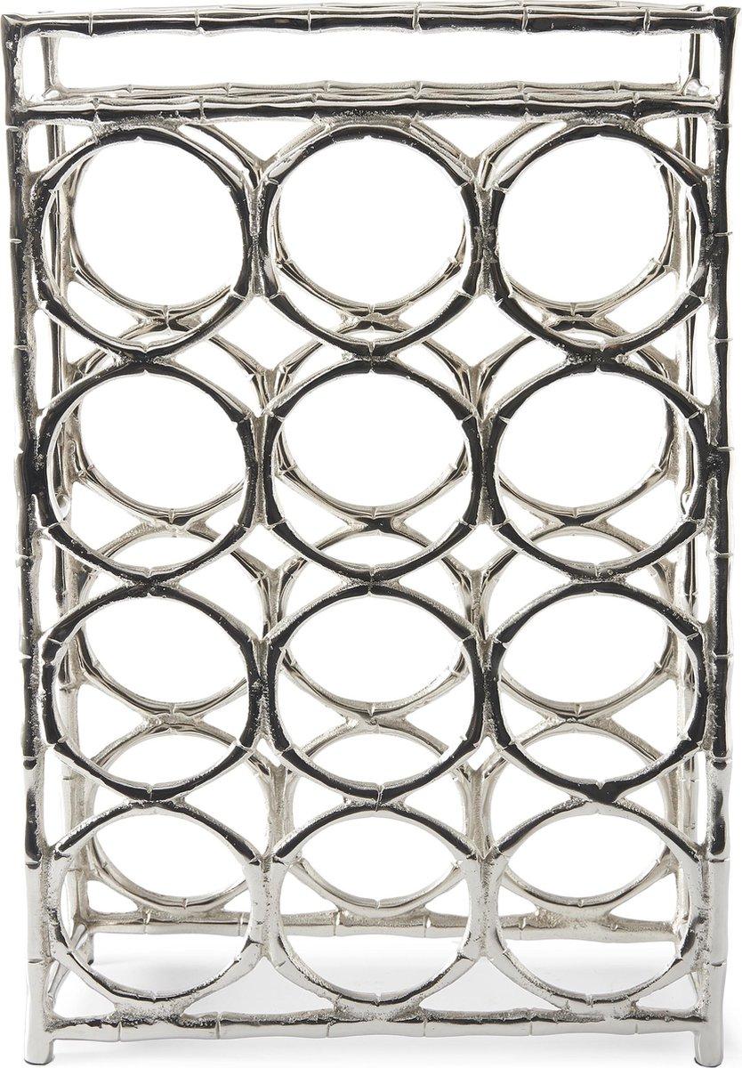 Rivièra Maison Bamboo Grove Wine Rack - Wijnrek - Aluminium - Zilver