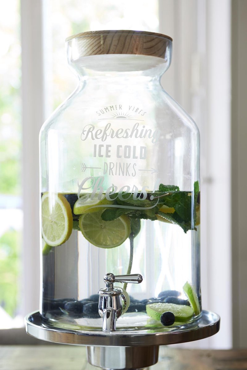 Riviera Maison Refreshing Ice Cold Drinks Decanter - Karaf - Glas
