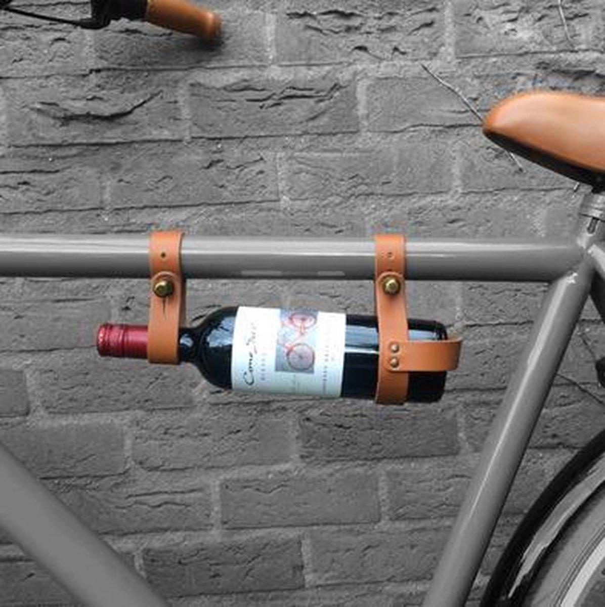 Wijnfleshouder Cognac fietscadeau