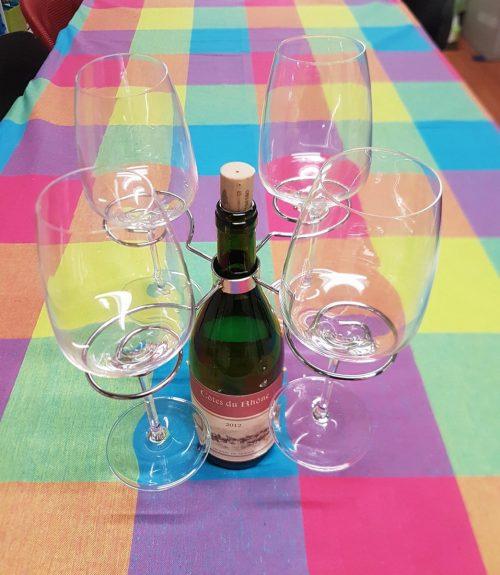 Wijnglas houder Carrousel