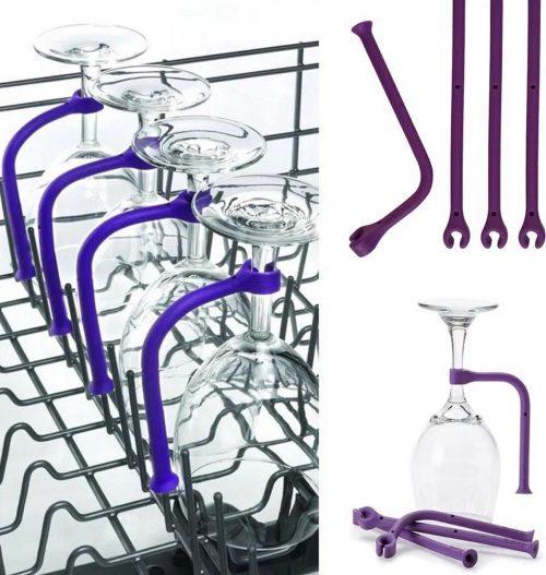 Wijnglazenhouder - 3 stuks - Siliconen hulpstuk - Wijnglazen set - Vaatwasser accessoire