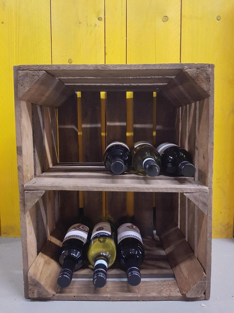 Wijnrek   Fruitkist   50x40x30cm   Wijnkist   Flessenrek   deco-kist