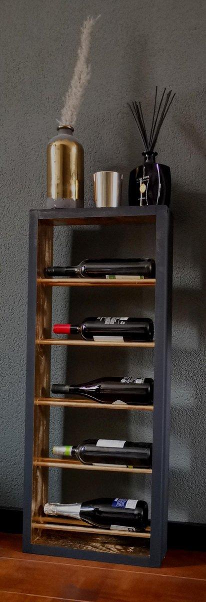 Wijnrek - Goud/Zwart - 100 x 40,5 x 12 cm - Wijnrek4U Onyx