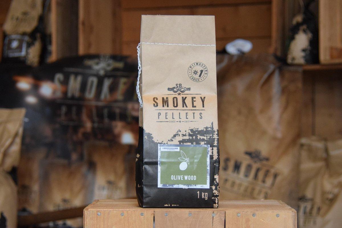 smokey pellets olive wood