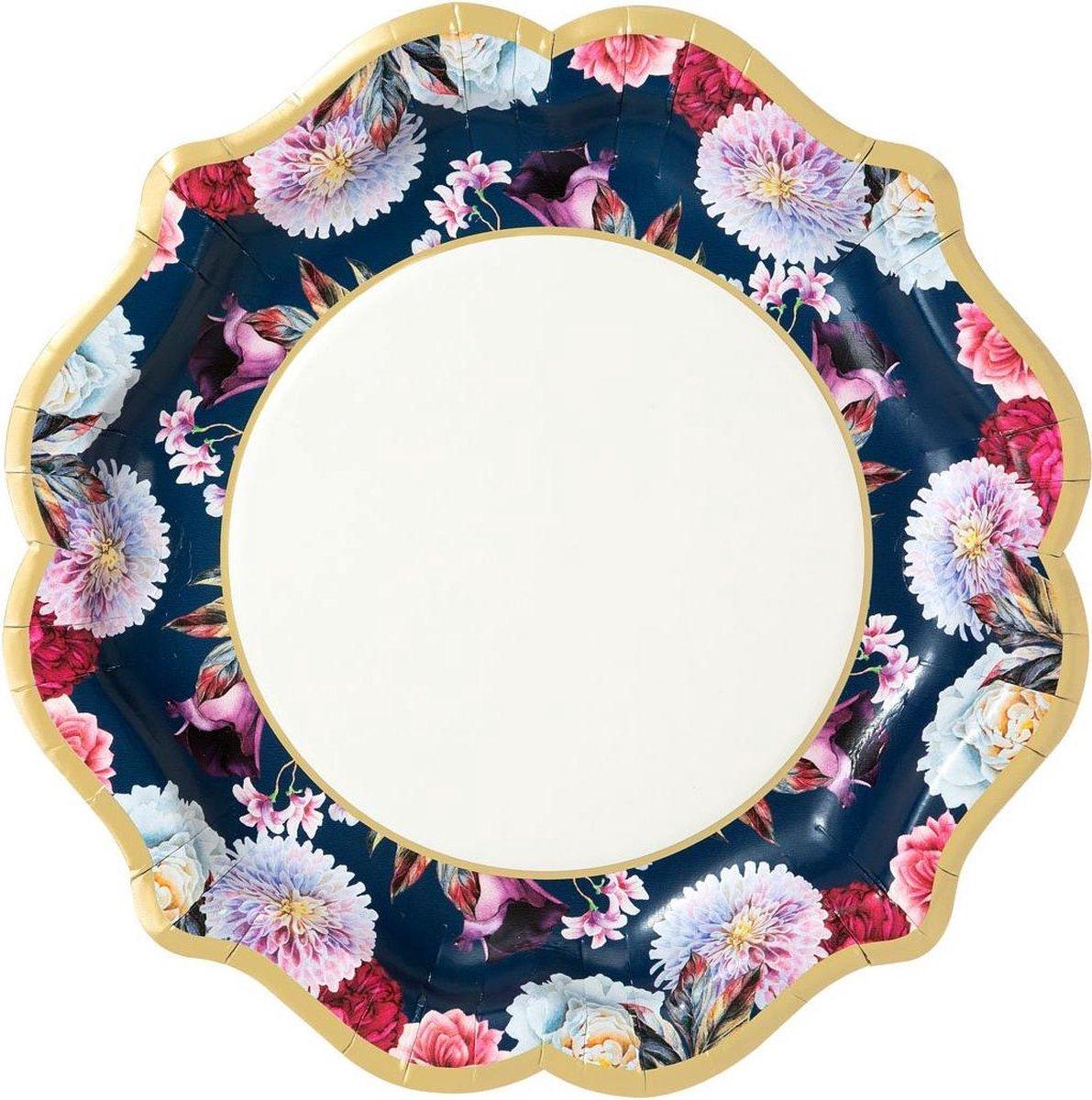 Cactula heerlijke papieren bordjes met geweldige print 6 stuks uit de serie Fleurie