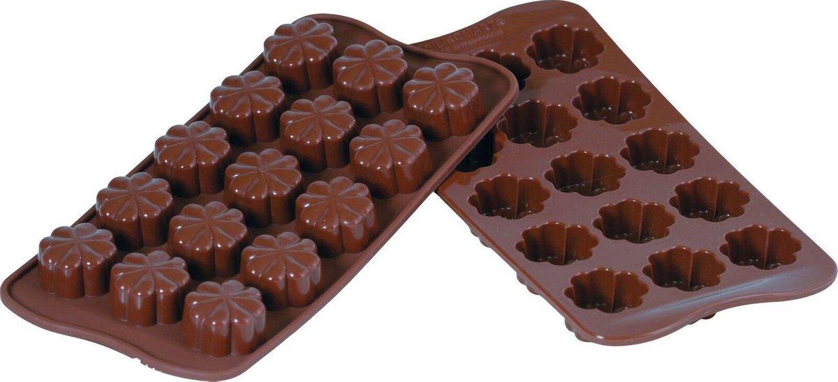 Silikomart Bonbonvorm Bloemen - Bakvorm Fleury SCG08 15 x Ø30 mm