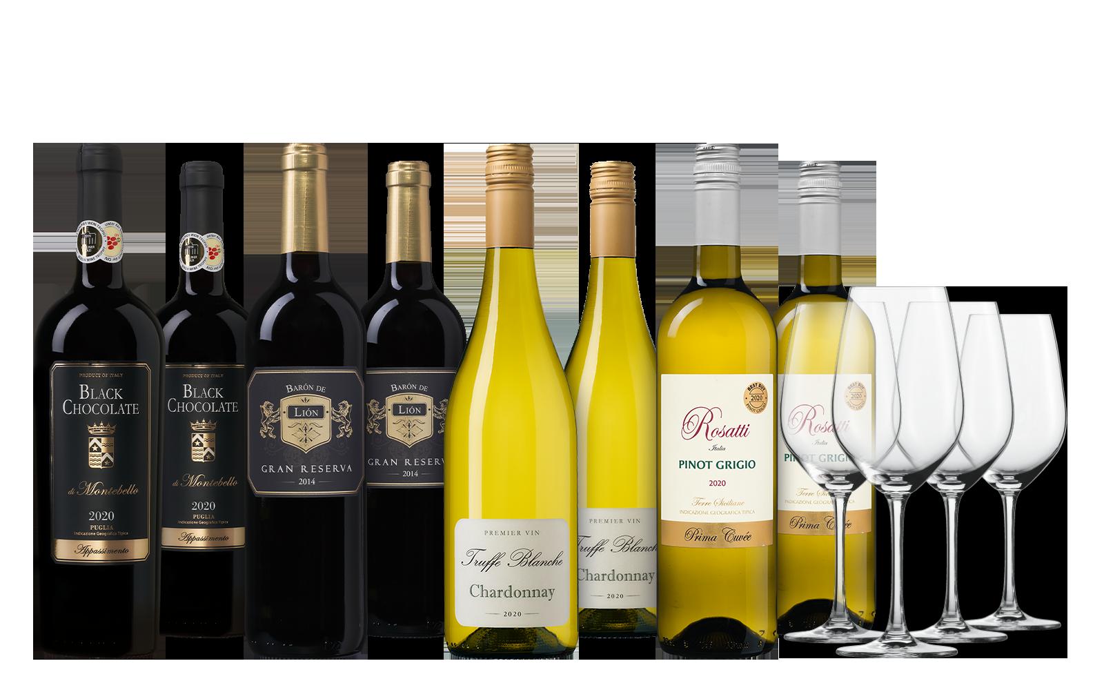 Vakantie Wijnpakket met Glazen
