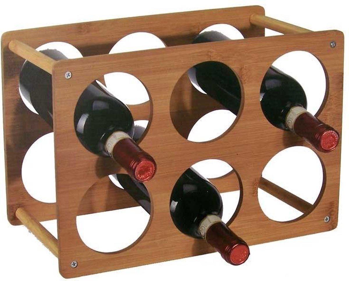 Wijnrek - Bamboe - 6 Flessen