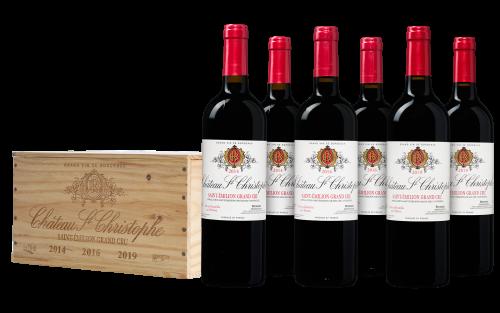 Château Saint-Christophe Saint-Émilion Grand Cru wijnkist (6 flessen)
