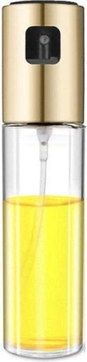 Keuken glas olijfolie spray fles azijn olie sproeier kruiden fles (goud)