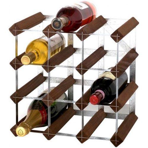 RTA - Traditional wine rack 12 bottles dark pine