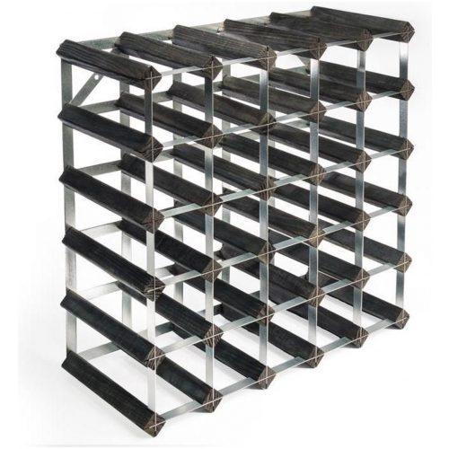 RTA - Traditional wine rack 30 bottles black ash