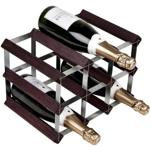 RTA - Traditional wine rack 9 bottles dark pine