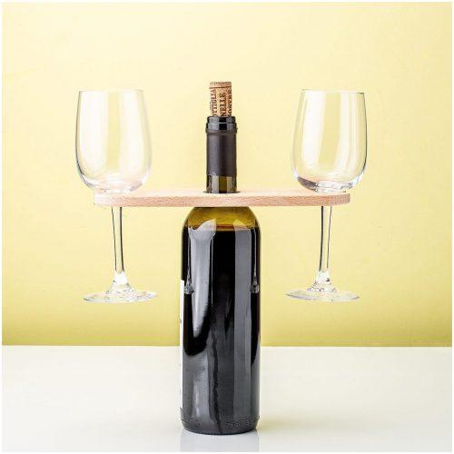 Kikkerland - Wijnhouder - Wijnserveerder - Wijntafel - Wijnplankje