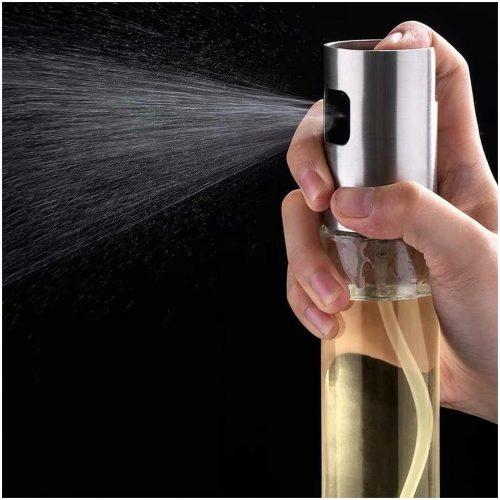 LifeLoom® - Olijfoliesprayer - RVS - Zilver/Transparant
